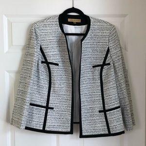 Nipon Boutique Open Front Tweed Blazer Plus Sz 16W